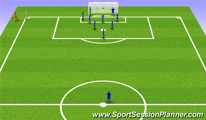 Football/Soccer Session Plan Drill (Colour): Zonal 1