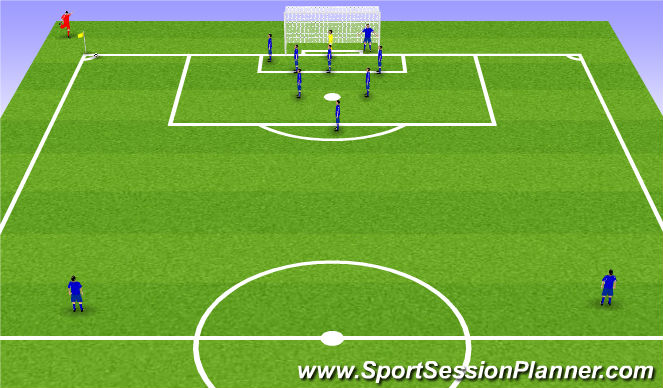 Football/Soccer Session Plan Drill (Colour): Zonal 2