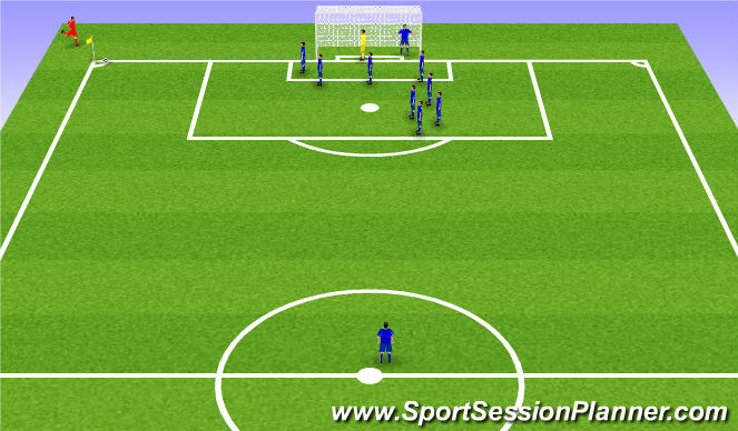 Football/Soccer Session Plan Drill (Colour): Man for Man