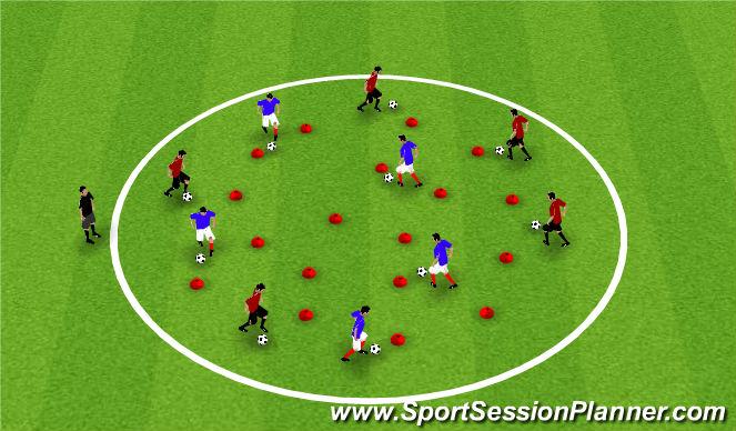 Football/Soccer Session Plan Drill (Colour): Pine Glen Week 3 ODP U6-U8