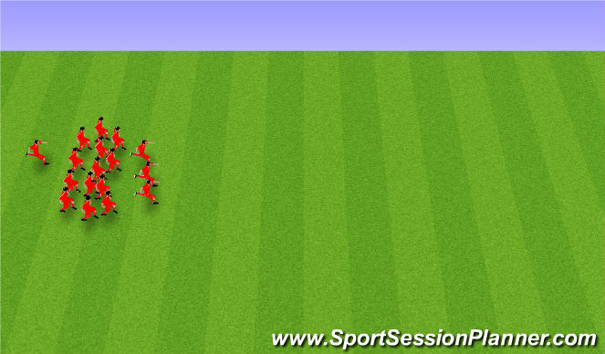 Football/Soccer Session Plan Drill (Colour): Endurheimt: