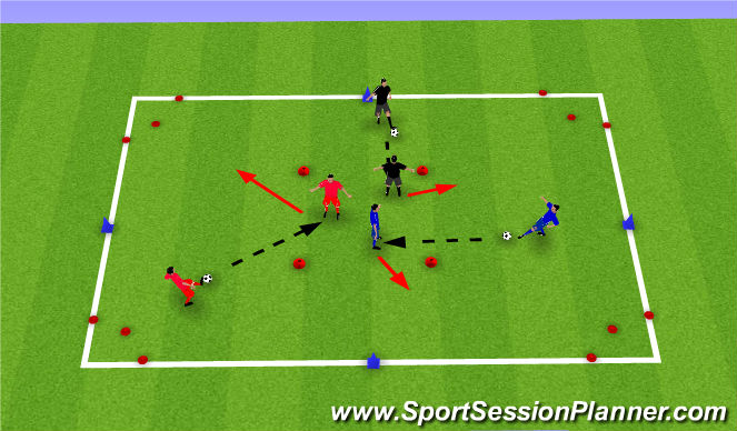 Football/Soccer Session Plan Drill (Colour): Turning Practice