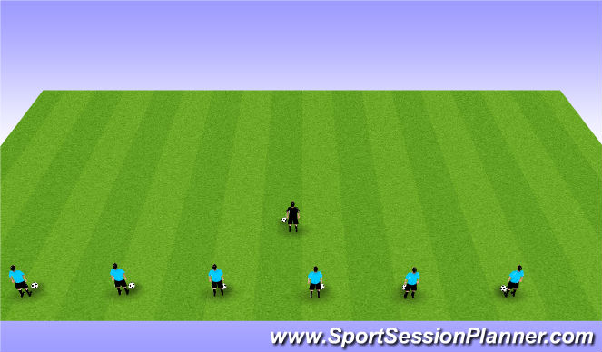 Football/Soccer Session Plan Drill (Colour): Tech Warm Up 1