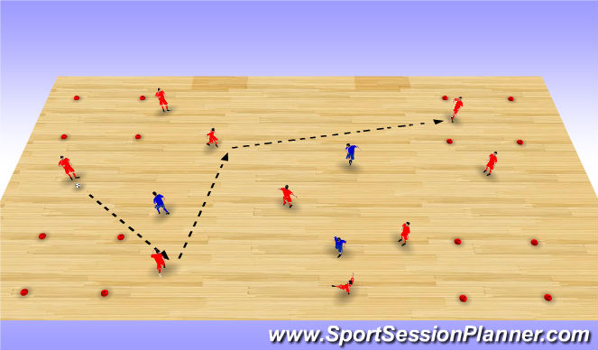 Futsal Session Plan Drill (Colour): Posession game