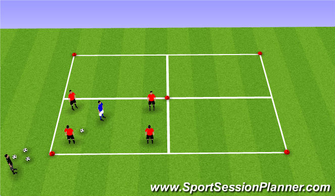 Football/Soccer Session Plan Drill (Colour): Warm Up Boxes