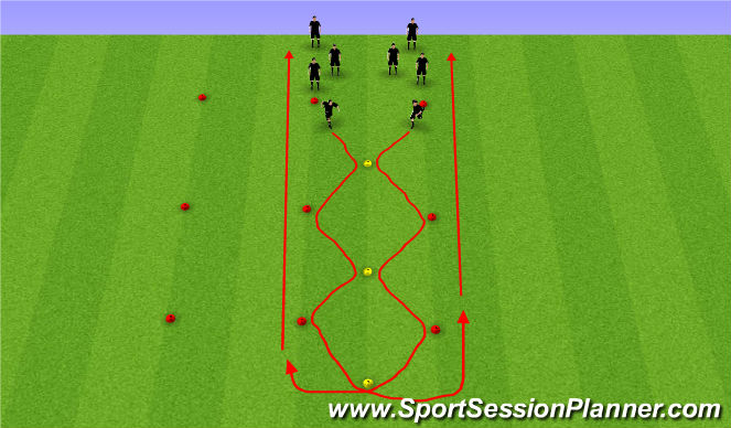 Football/Soccer Session Plan Drill (Colour): Dynamic running