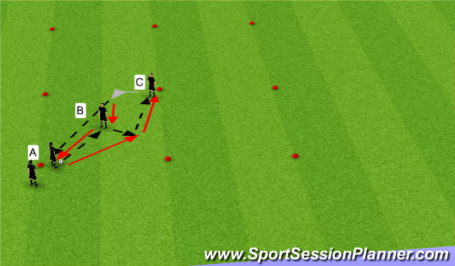 Football/Soccer Session Plan Drill (Colour): Tiki taka passing