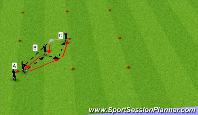 Football/Soccer Session Plan Drill (Colour): Tiki taka passing