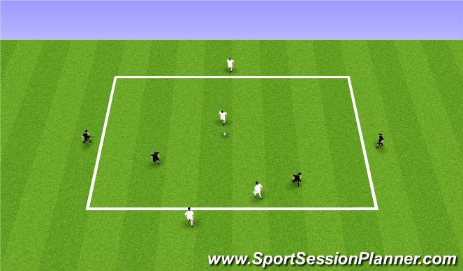 Football/Soccer Session Plan Drill (Colour): 2v2 with target players