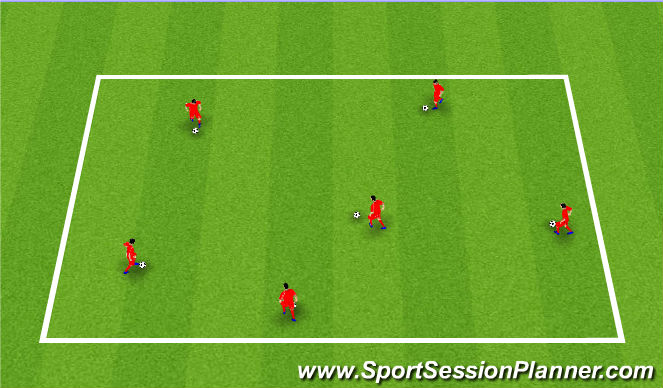 Football/Soccer Session Plan Drill (Colour): Skill Box Barcelona