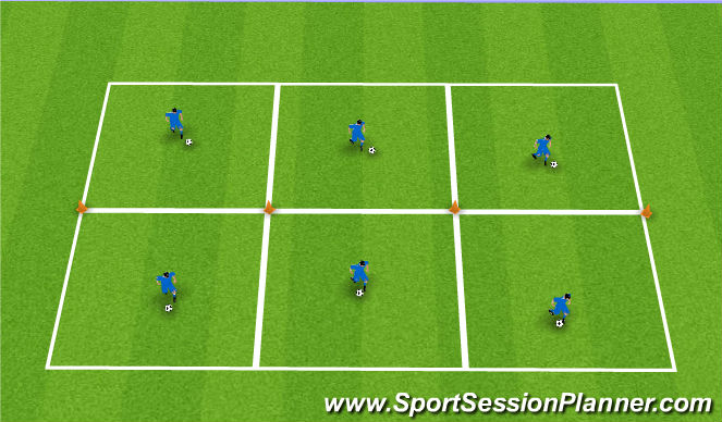 Football/Soccer Session Plan Drill (Colour): Ball Skills