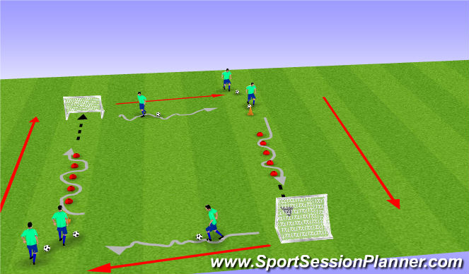 Football/Soccer Session Plan Drill (Colour): g.a.petrov@gmail.com