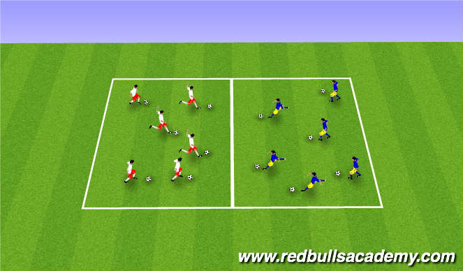 Football/Soccer Session Plan Drill (Colour): MaintTheme