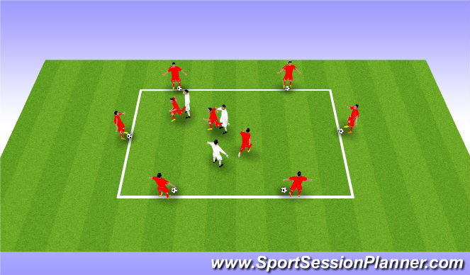 Football/Soccer Session Plan Drill (Colour): Drill - Movement (2)