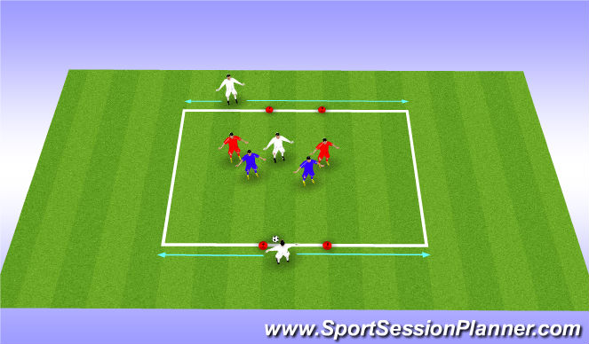 Football/Soccer Session Plan Drill (Colour): MDG - Bumper Small Sided Possession