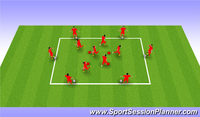 Football/Soccer Session Plan Drill (Colour): Drill - Movement