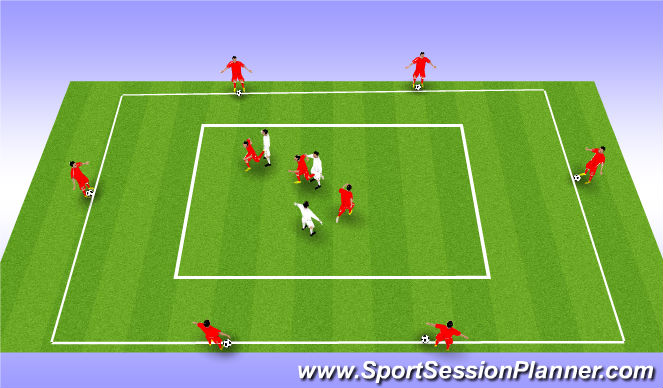 Football/Soccer Session Plan Drill (Colour): Drill - Movement (3)