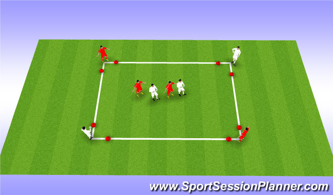 Football/Soccer Session Plan Drill (Colour): MDG - Barcelona Small Sided Possession
