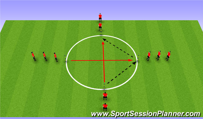 Football/Soccer Session Plan Drill (Colour): Defensive Pressing