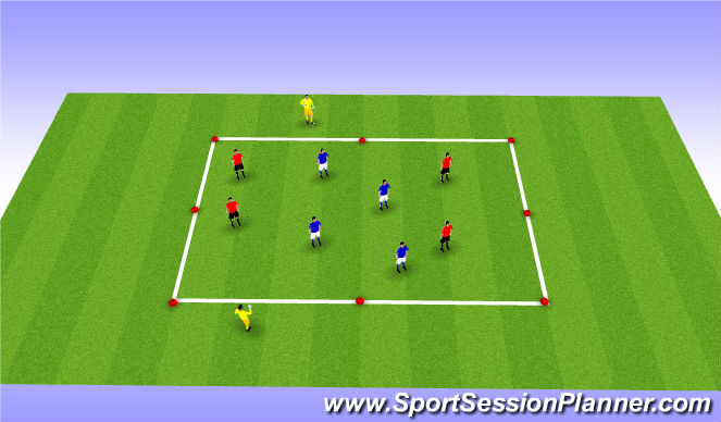 Football/Soccer Session Plan Drill (Colour): Possession Games