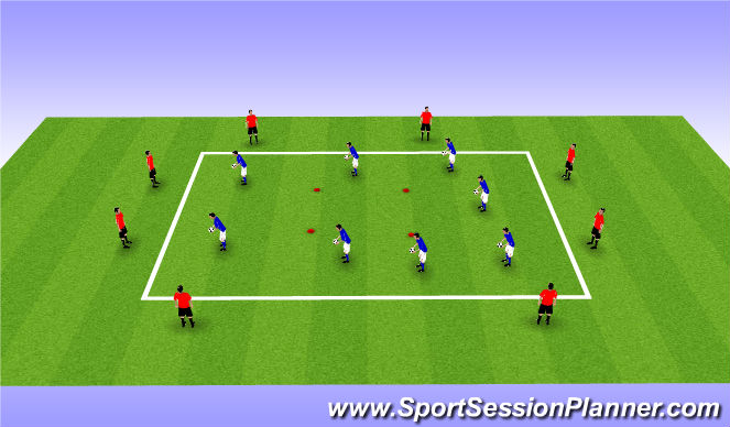 Football/Soccer Session Plan Drill (Colour): Dyamic Warm Up