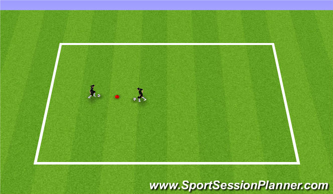 Football/Soccer Session Plan Drill (Colour): Optional: 1v1 moves