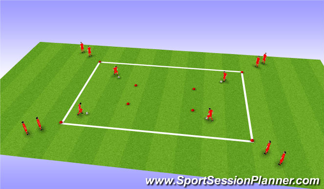 Football/Soccer Session Plan Drill (Colour): Ball Control Work