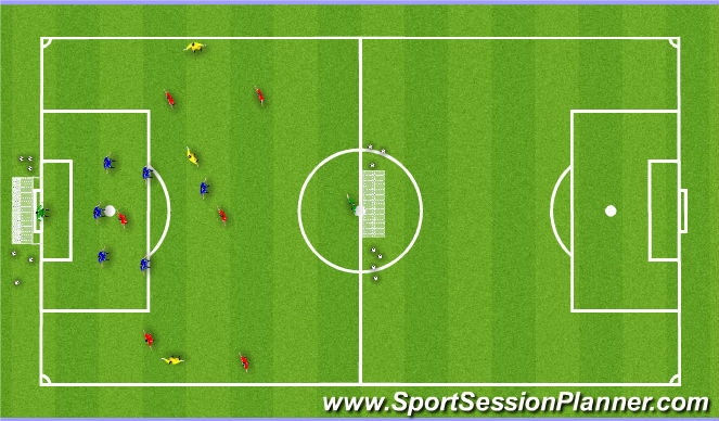Football/Soccer Session Plan Drill (Colour): Expanded Playing Activity