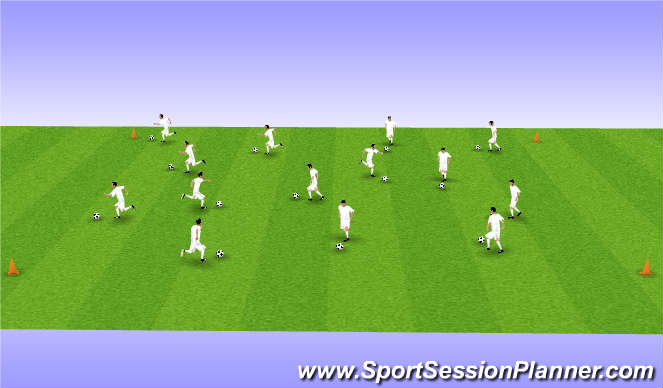 Football/Soccer Session Plan Drill (Colour): Gear Changes