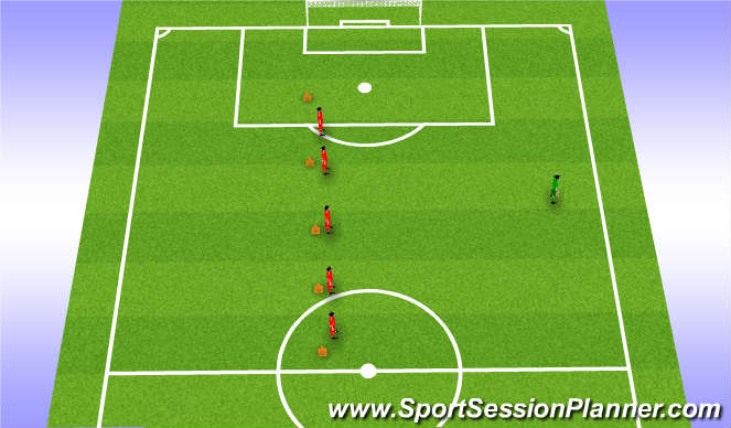 Football/Soccer Session Plan Drill (Colour): U4 and U6