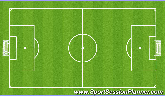 Football/Soccer Session Plan Drill (Colour): Aerobic Power Fitness with Ball