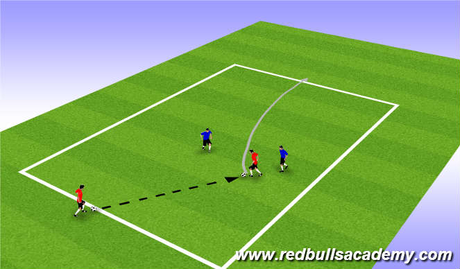 Football/Soccer Session Plan Drill (Colour): Warm Up (1608)