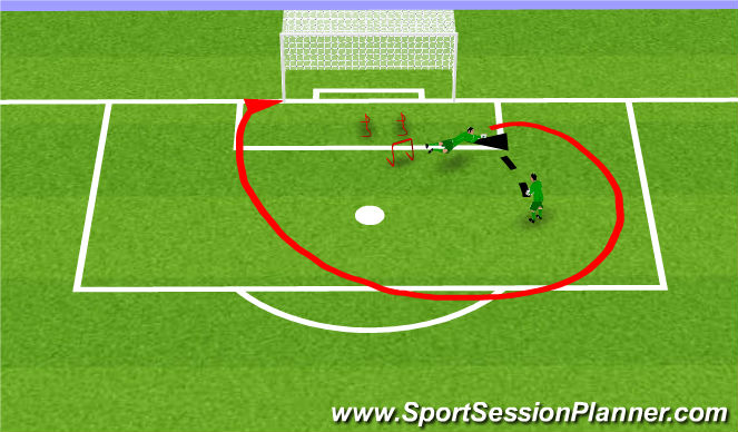 Football/Soccer Session Plan Drill (Colour): Fuerza desplazamiento captura 2