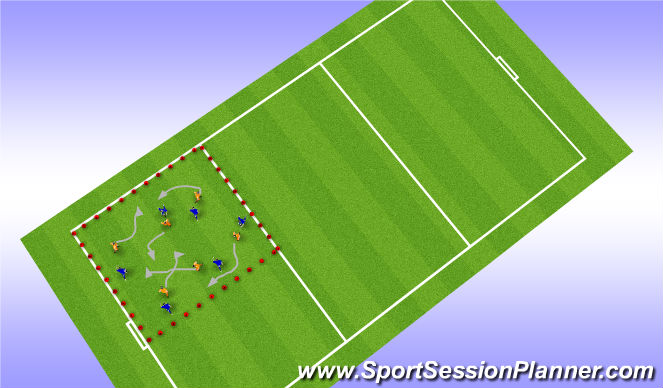 Football/Soccer Session Plan Drill (Colour): Warm-up / Fun Game