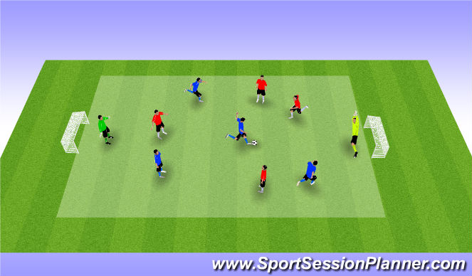 Football/Soccer Session Plan Drill (Colour): Futsal