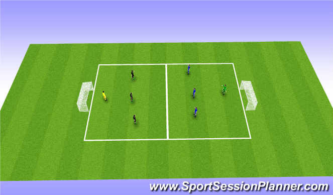 Football/Soccer Session Plan Drill (Colour): Free Game - SSG