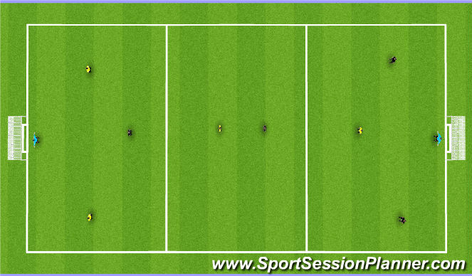 Football/Soccer Session Plan Drill (Colour): Playing through zones