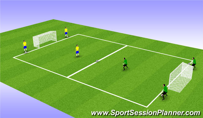 Football/Soccer Session Plan Drill (Colour): 2 min games