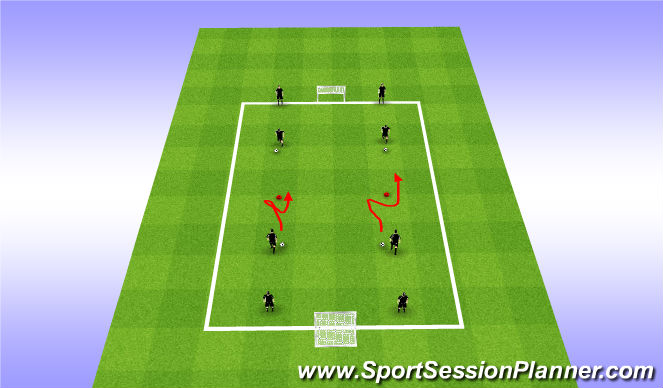 Football/Soccer Session Plan Drill (Colour): Fake & Take