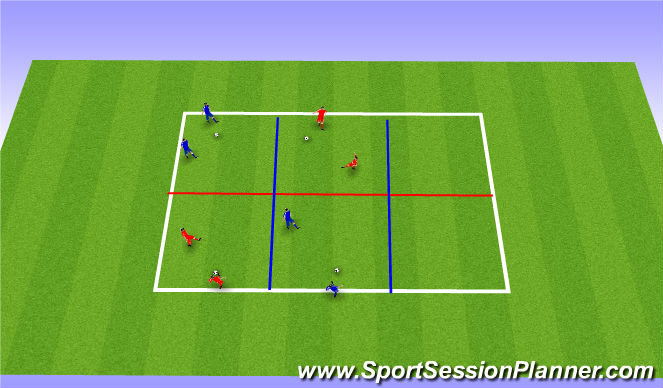 Football/Soccer Session Plan Drill (Colour): Warm up - passing