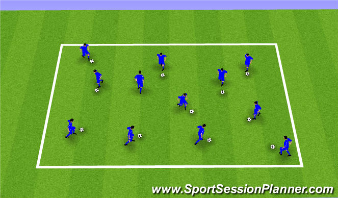 Football/Soccer Session Plan Drill (Colour): Skills Warm-Up