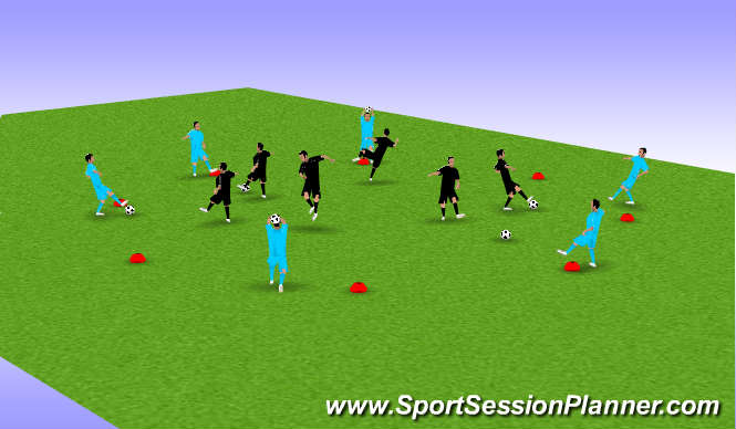 Football/Soccer Session Plan Drill (Colour): Skill Circle