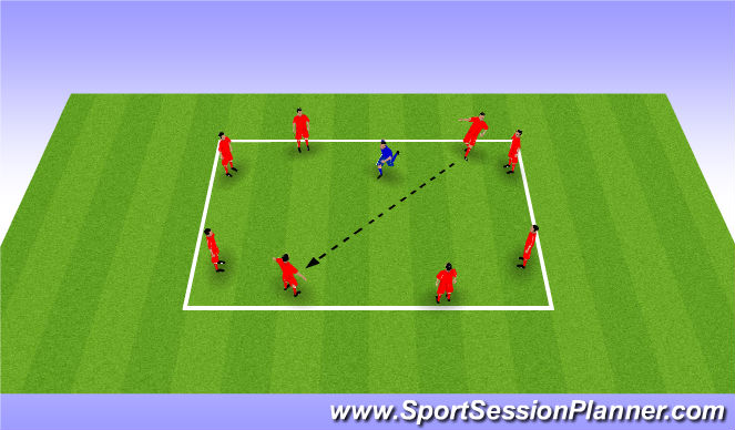 Football/Soccer Session Plan Drill (Colour): Warm-up (10 mins)