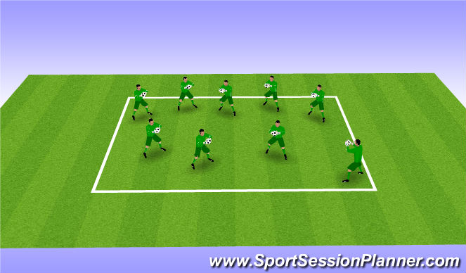 Football/Soccer Session Plan Drill (Colour): Handling exercises (5 mins)