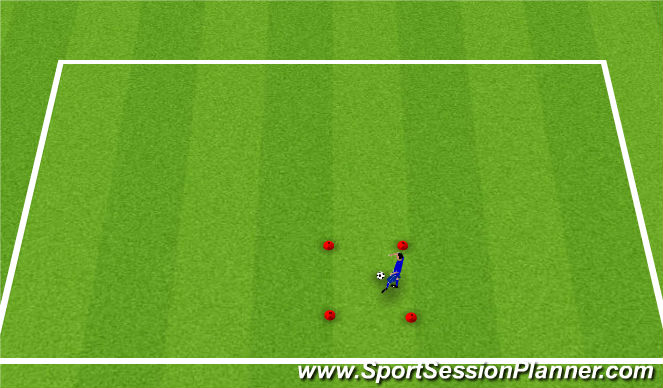Football/Soccer Session Plan Drill (Colour): Station 3 (keepy uppies)