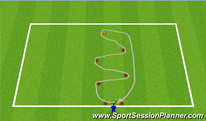 Football/Soccer Session Plan Drill (Colour): Station 4 SAQ