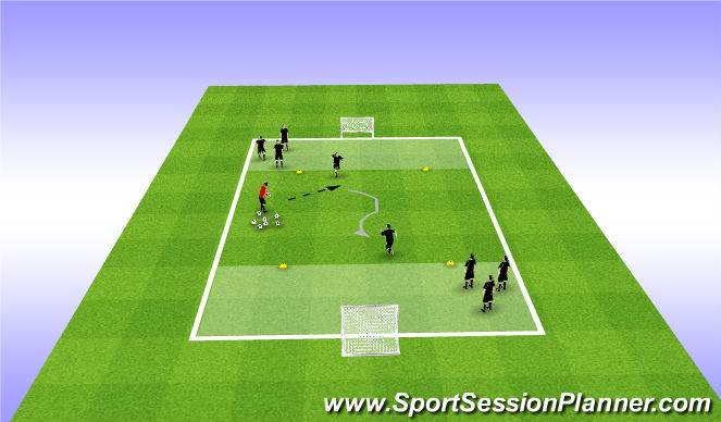 Football/Soccer Session Plan Drill (Colour): GRP