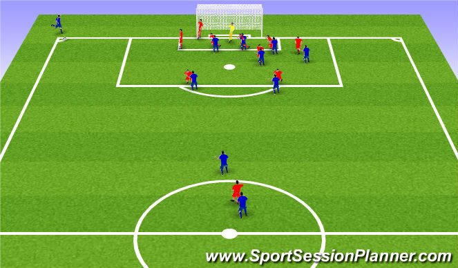 Football/Soccer Session Plan Drill (Colour): Taktískþjalfun: