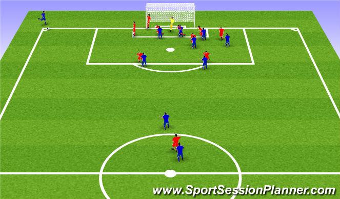 Football/Soccer Session Plan Drill (Colour): Taktískþjalfun: