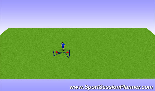 Football/Soccer Session Plan Drill (Colour): 2 Cone foot work